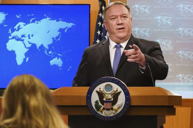 China sanctions Trump Cabinet members including Pompeo