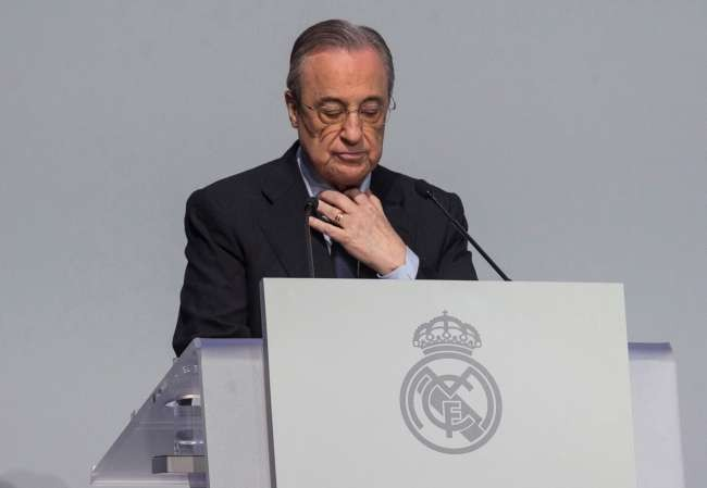 Unopposed Florentino Perez reelected as Real Madrid president