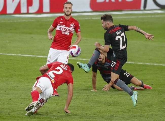Benfica defeats Spartak Moscow 2-0 in Champions League qualifiers